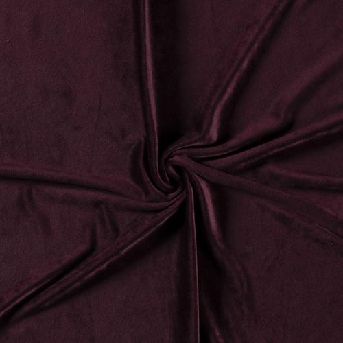 Wine Red Euro Stretch Velvet Knit