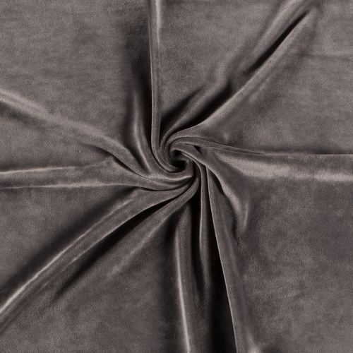 Taupe Euro Stretch Velvet Knit