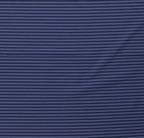 Dark Blue Yarn Dyed Stripes Euro Knit