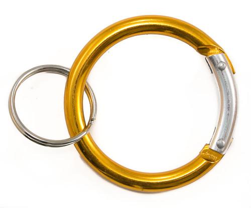 Circle Carabiner Clip Yellow