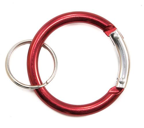 Circle Carabiner Clip Red