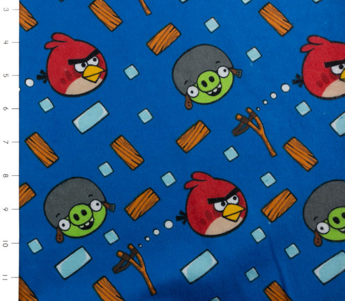 SALE Angry Birds Bounce Blue Flannel