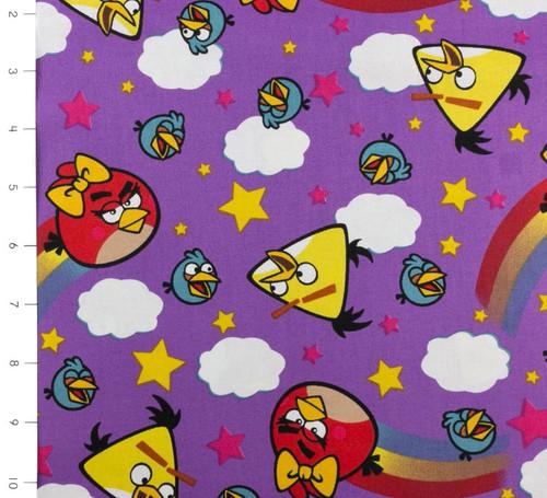 Angry Birds Girl Rainbows Purple