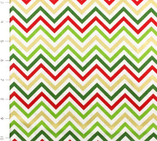 SALE Remix Small Chevron Metallic Holiday by Robert Kaufman