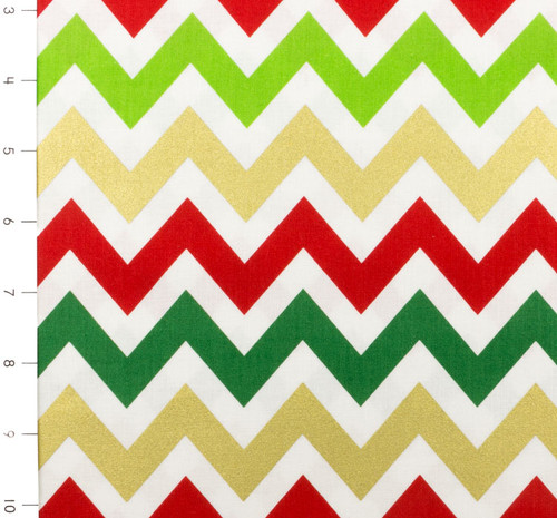 Remix Medium Chevron Metallic Holiday by Robert Kaufman