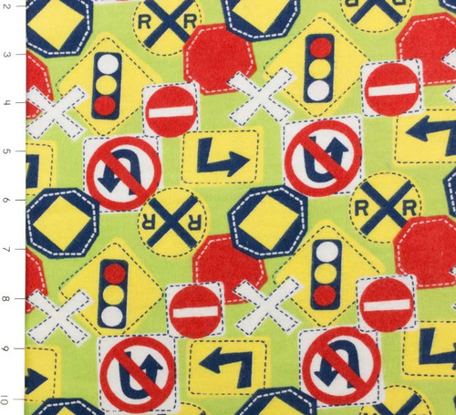 SALE Bumper to Bumper Signs & Stop Lights Flannel Green