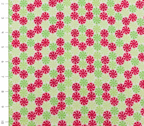 Holidays Peppermint Multi Flannel by Riley Blake