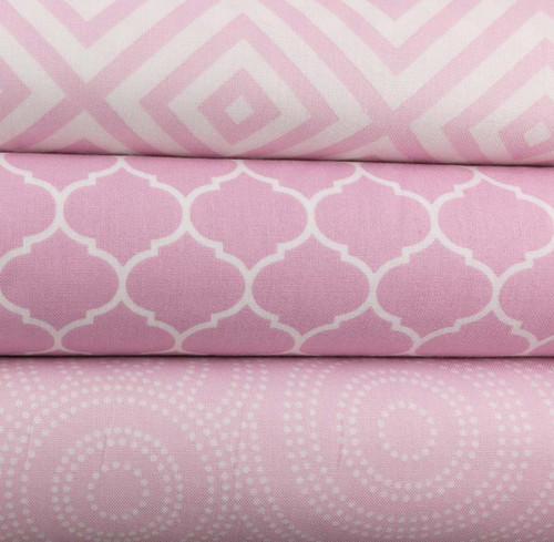Max & Bunny Dotted Swirls Pink by Andover