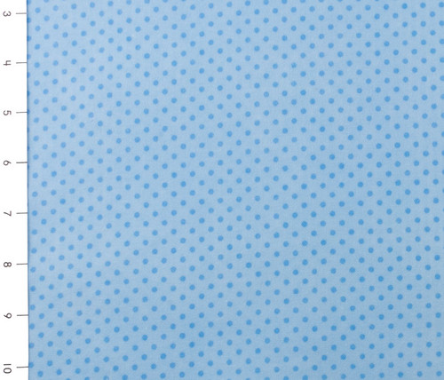 Blue Small Dot Cuddle Flannel by Fabri Quilt