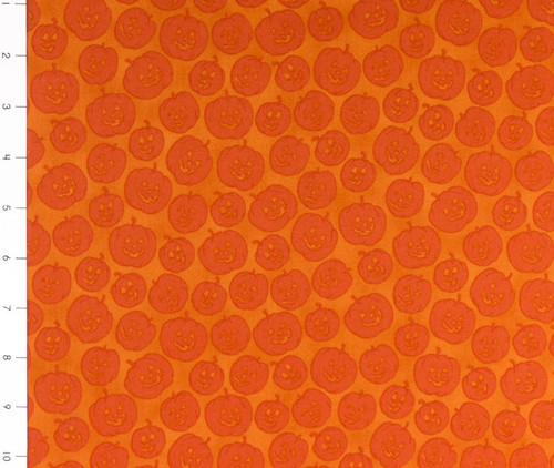 Witches Brew Orange Jack O Lanterns by Quilting Treasures