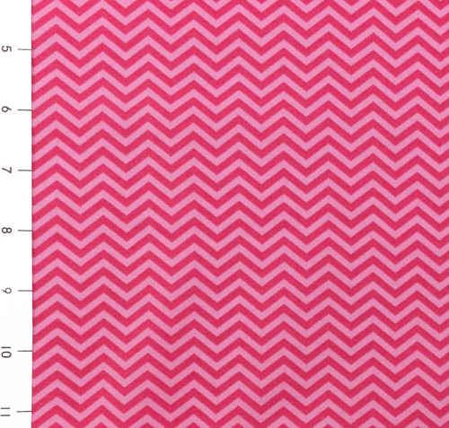 Surrounded by Love Pink Chevron by Moda