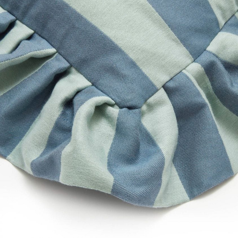 Camelot Stripe Sapphire & Jadeite Medium Cushions