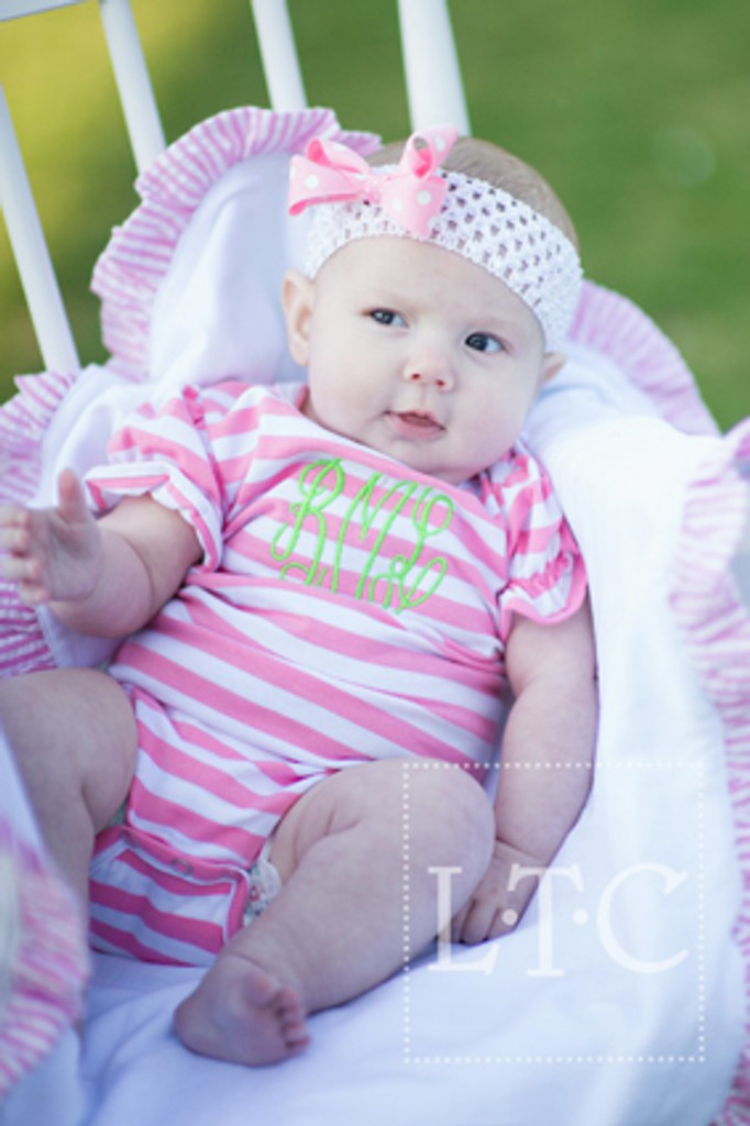 Girls Pink and white  bodysuit