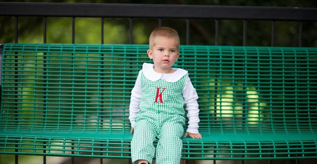 Green gingham longall