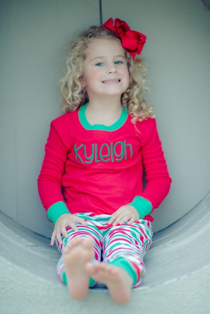Red green and white jammies