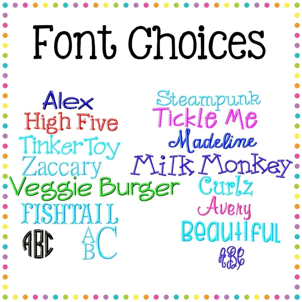 Monogram Choices