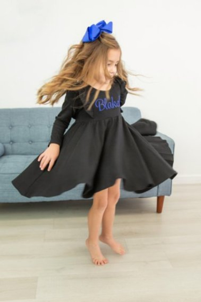 Girls Long Sleeve  Twirl Dress