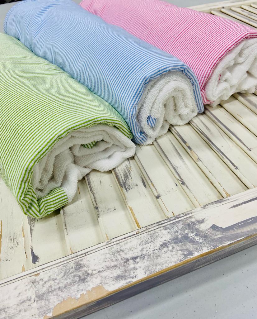 Seersucker  Beach / Bath Towel (Miller Collection)