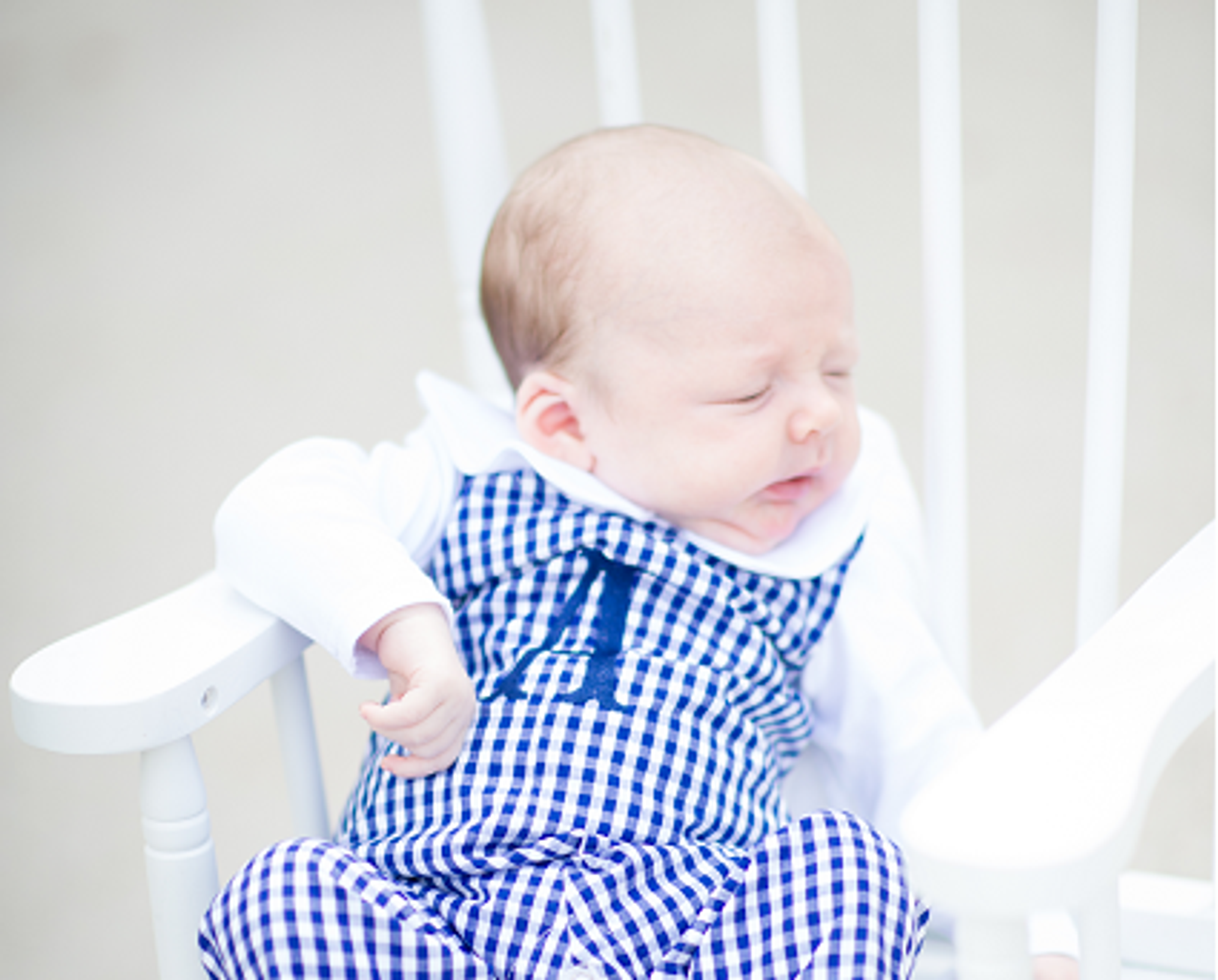 Navy Gingham Longall