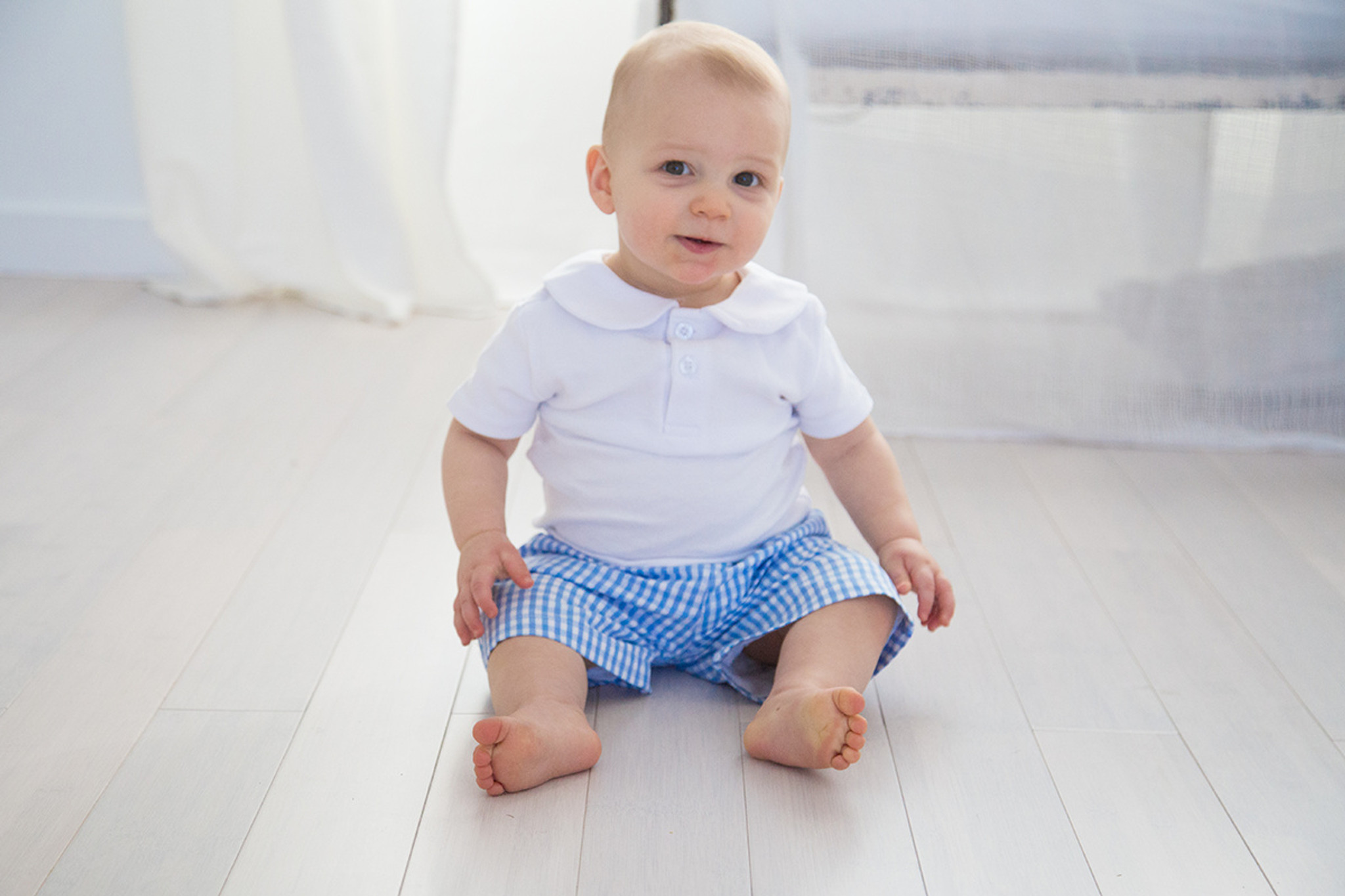 Boy's Seersucker and Gingham Shorts