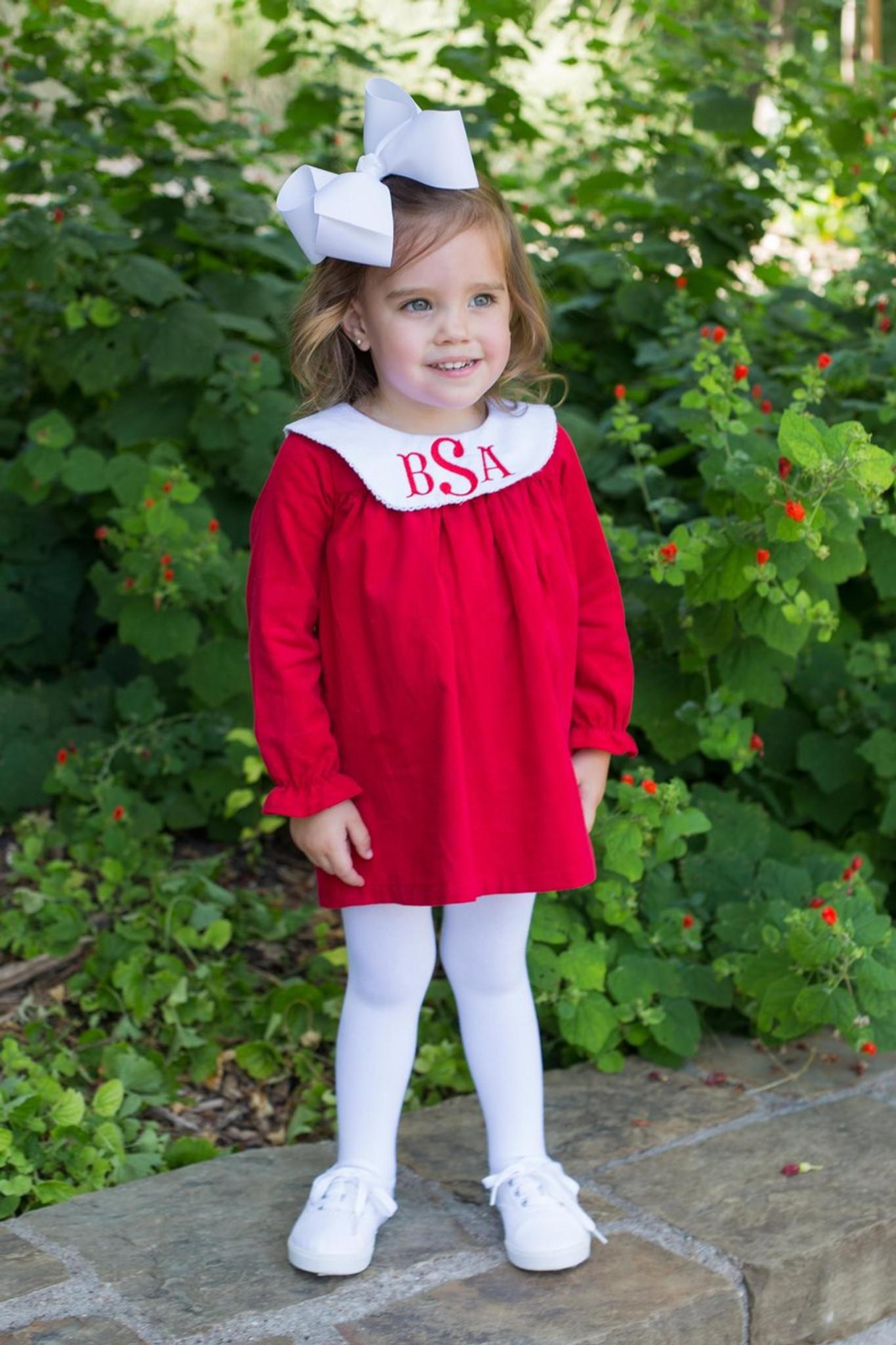 Red bishop tunic dress