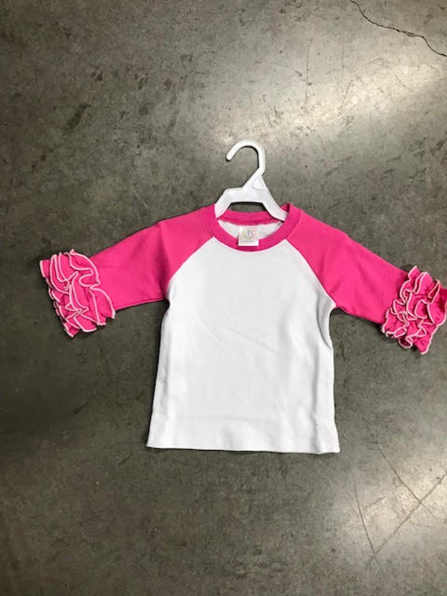 2017 Ruffle Raglan Shirt - SALE