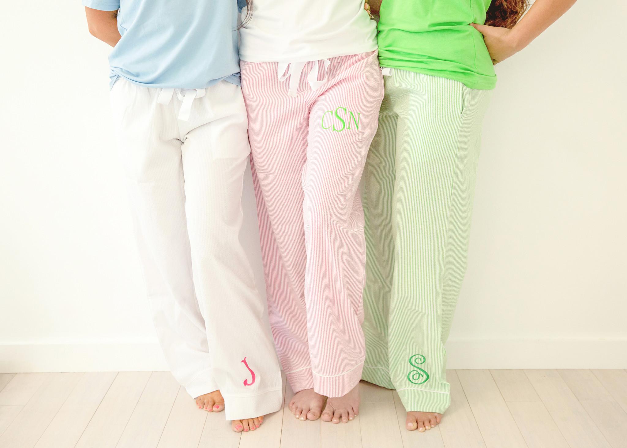Womans Seersucker Lounge Pants