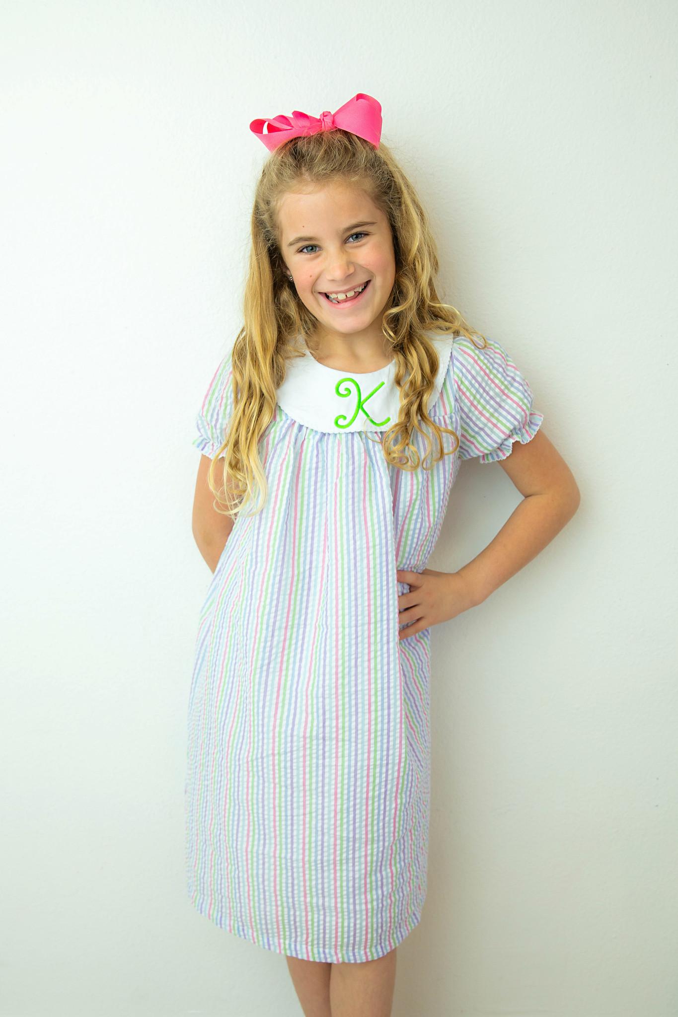 Short Sleeve Bishop Dress