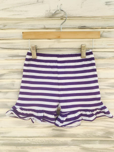 Purple and white shorties