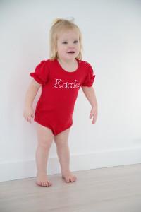 Girls Short Sleeve Bodysuit