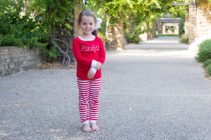 Red and white jammies