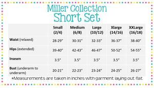 Women's Seersucker SHORT SLEEVE short set - Miller Collection