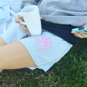 Women's Seersucker Lounge Shorts (straight leg) -Miller Collection