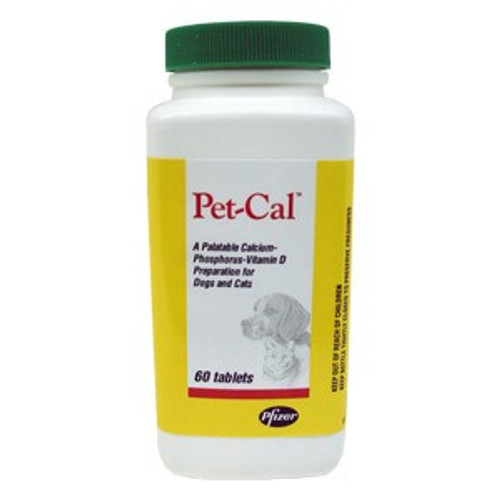 Pet Cal Tabs - 60 count bottle
