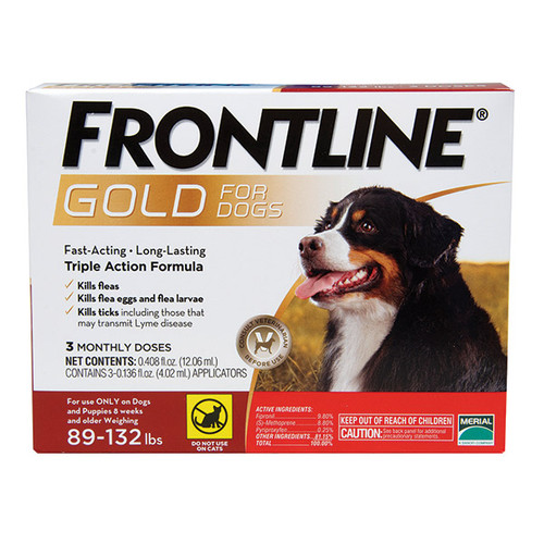 Frontline Gold for Dogs 89-132# (3 dose box)