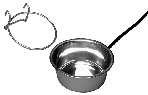 Stainless Steel Heated Pet Bowl with Hutch Mount