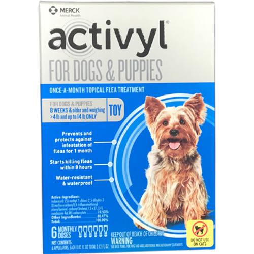 Activyl Flea Spot On Dog 4-14lbs. (6 dose box)
