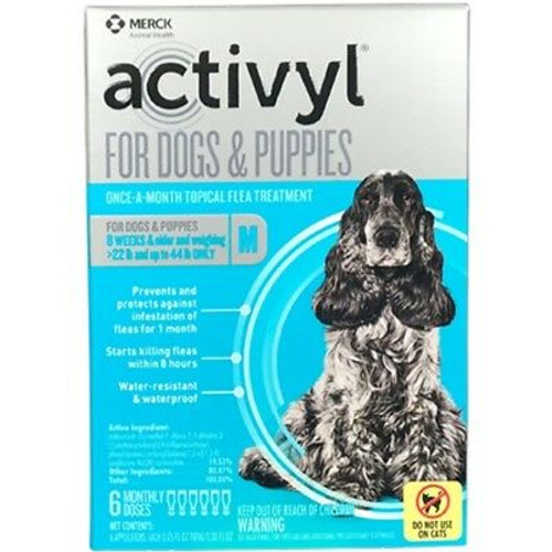 Activyl Flea Spot On Dog 23-44lbs. (6 dose box)