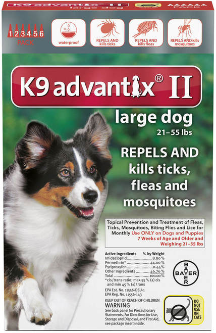 Advantix II Dog 21-55lbs. 4 Pack