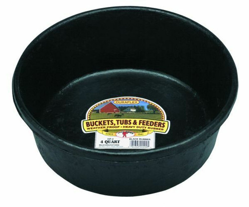 Little Giant Rubber Feed Pan 4qt.