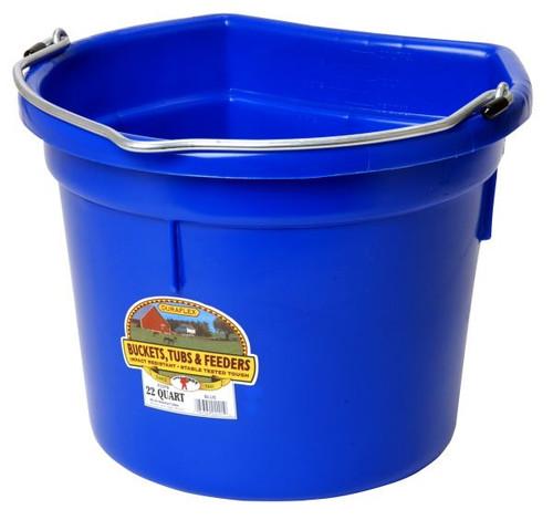 Little Giant Plastic Flat Back Bucket 22 Qt. (FOB)