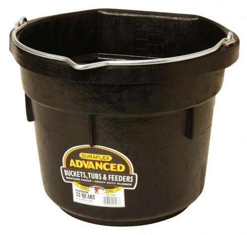 Little Giant Flat Back Rubber Bucket 12 Qt. (FOB)