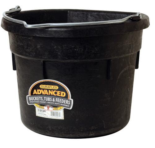Little Giant Flat Back Rubber Bucket 18 Qt. (FOB)