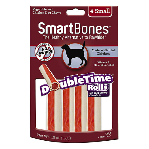 SmartBones DoubleTime Rolls 4ct. Small