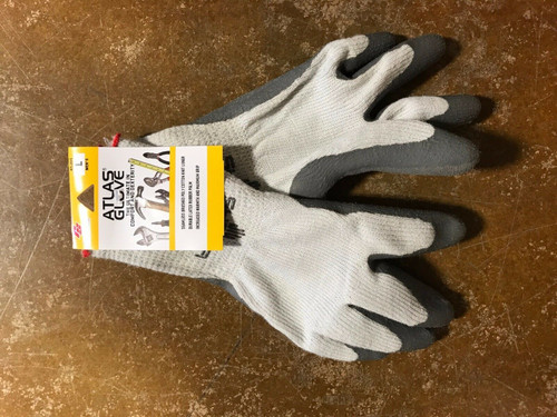 ATLAS GLOVES 301 Polycotton Seamless Knit Grippy Rubber Palm