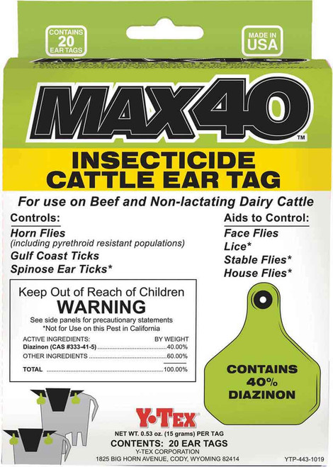 Max 40 Insecticide Tags