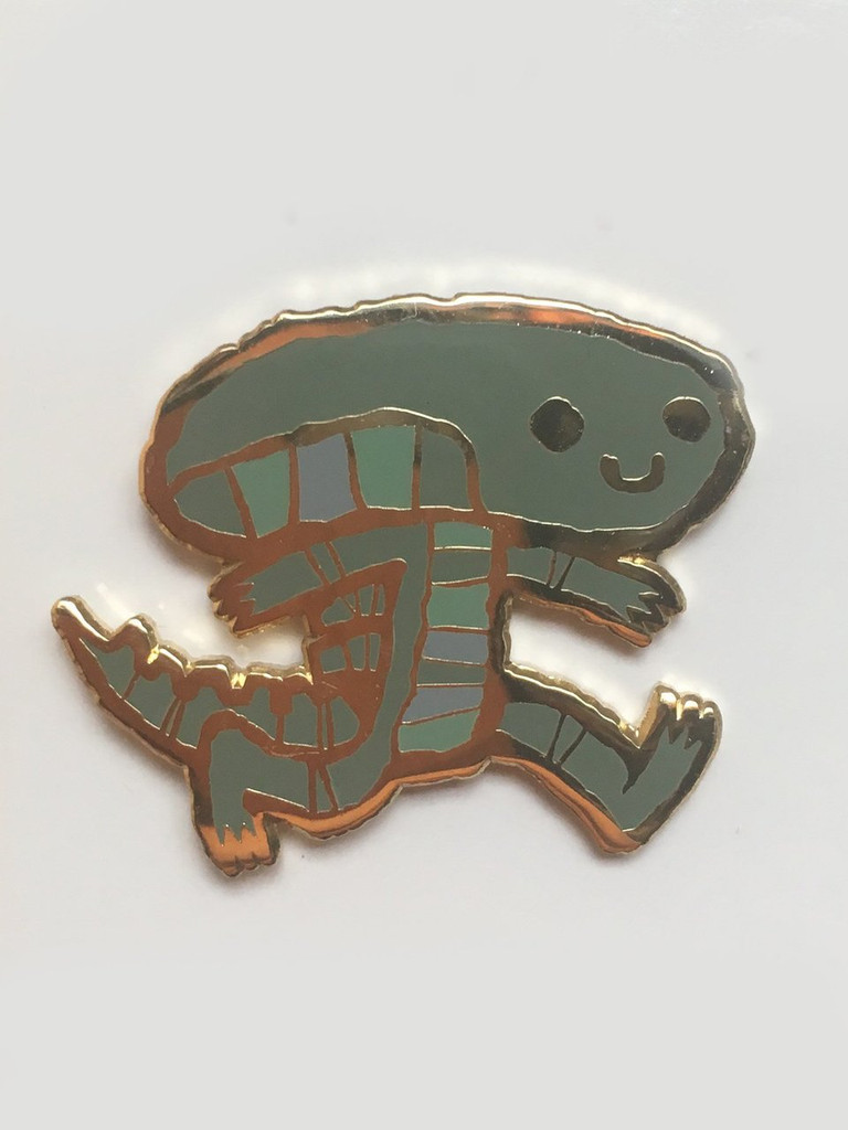 Alien on the Move Enamel Pin