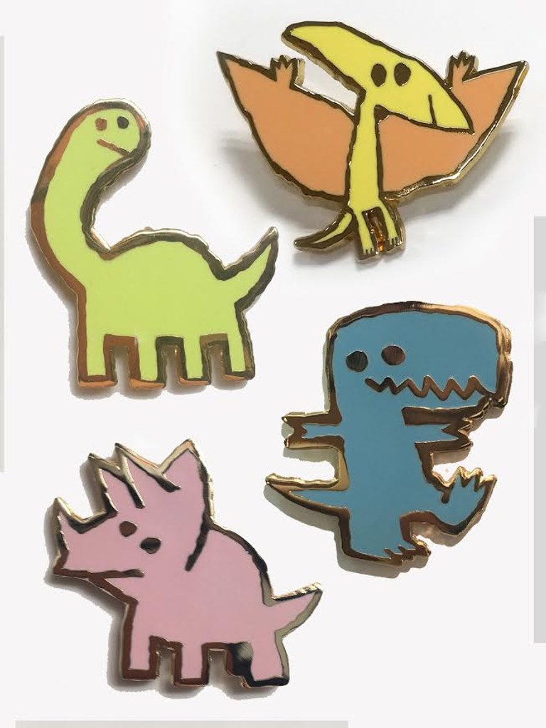 Dinosaur Party Pin Pack: Featuring All Four Dinosaurs