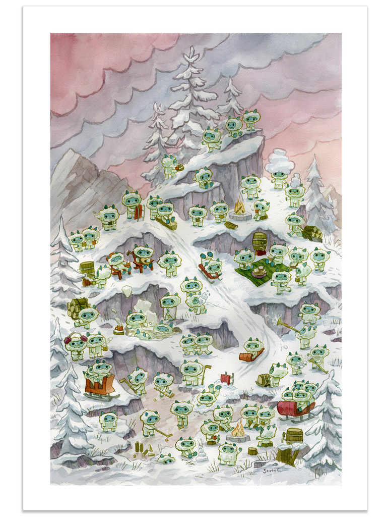 Snow Creature Mountain Top