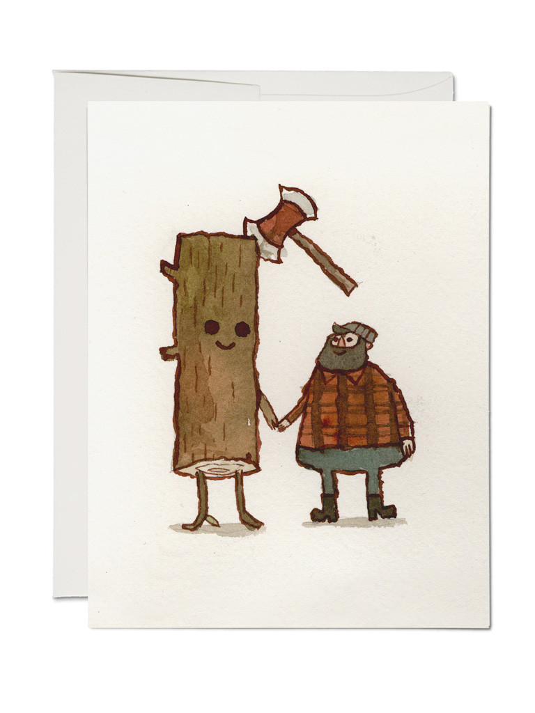 Friends Of Log Greeting Card